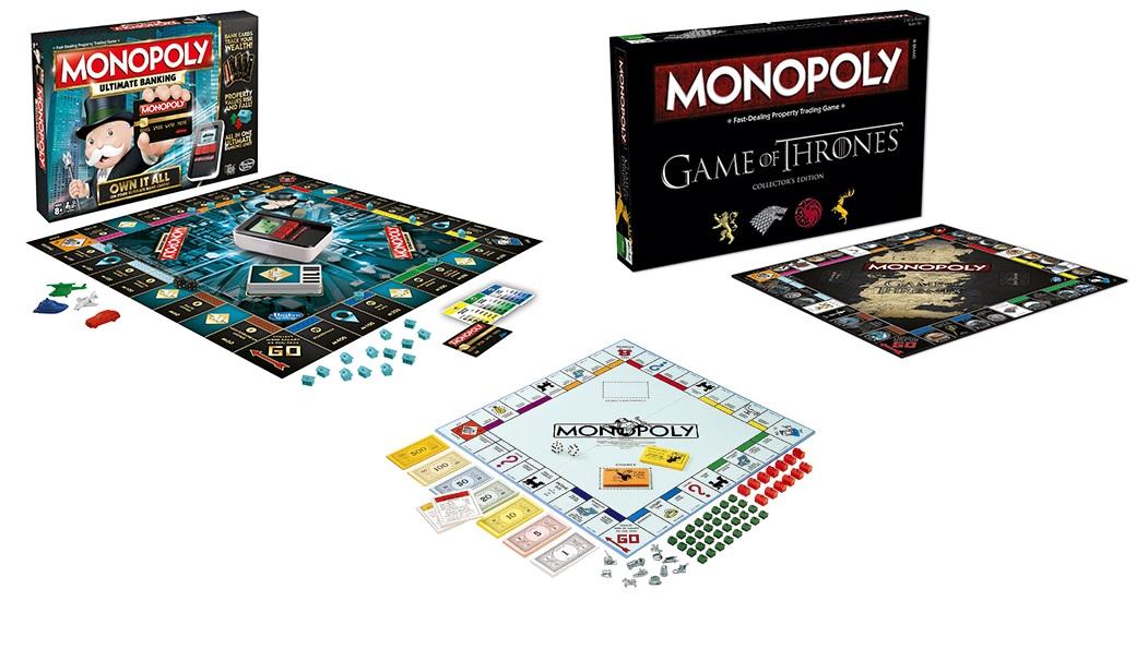 Monopoly y Monopoly Juego de Tronos